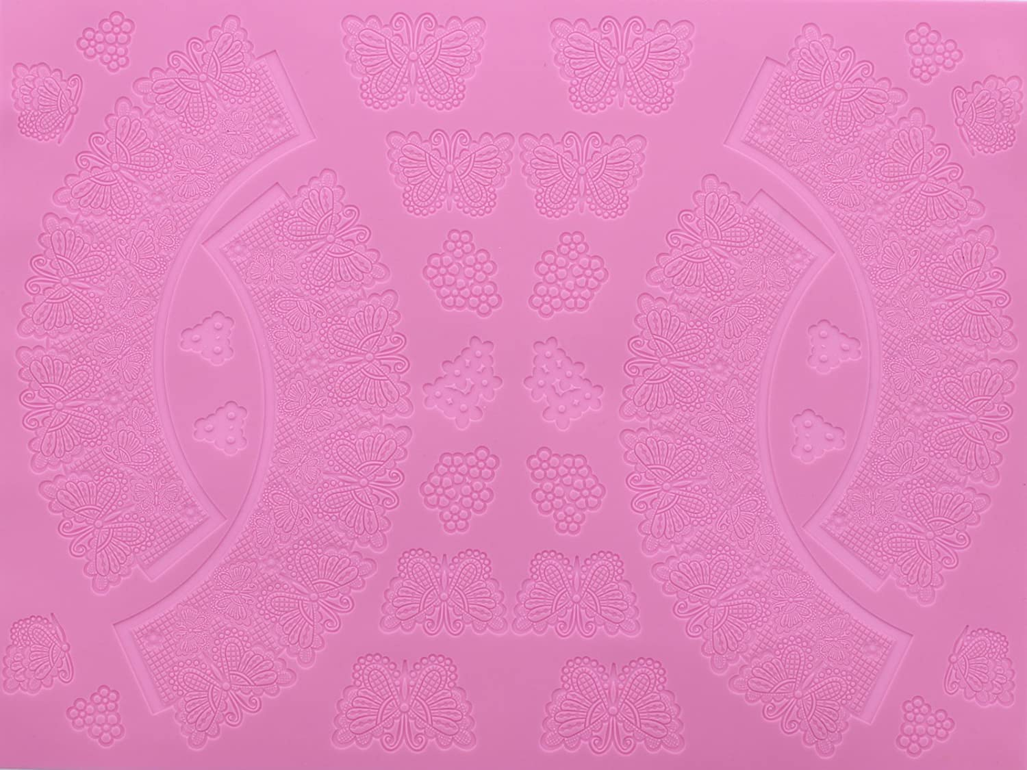 Mold for Edible Sugar Lace by Claire Bowman Silicone DAMASK 3D CAKE LACE Mat