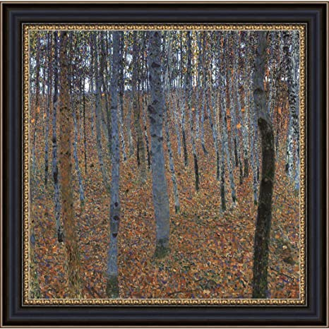 Amazon Com Upperpin Buchenhain By Gustav Klimt Giclee Print Framed Painting On Canvas For Wall Decoration Black Frame Size 18 X 17 Ready To Hang Posters Prints