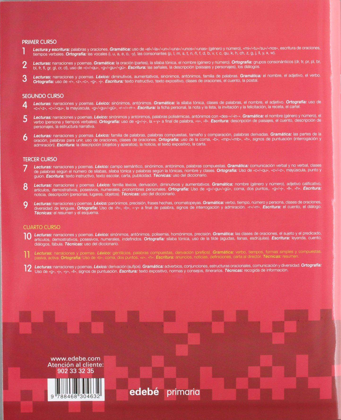 CUADERNO LENGUA 11-9788468304632: Amazon.es: Obra Colectiva Edebé: Libros