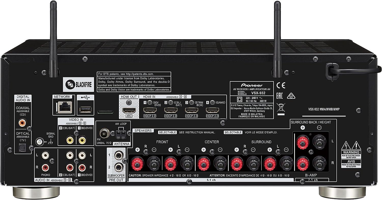 Amazon.com: Pioneer vsx-932 7.2-channel Red Receptor AV ...