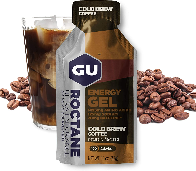 GU Energy Roctane Ultra Endurance Energy Gel, Cold Brew 2X Caffeine, 24-Count