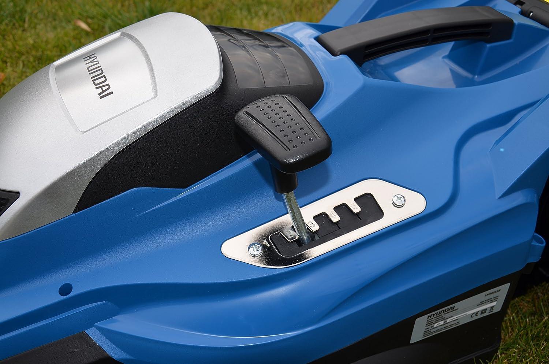 ancho de corte 36 cm ajuste de 5 veces m/ás de altura Cortac/ésped el/éctrico Hyundai; modelo LM3601E cesta recolectora 45L 1600W 20-70 mm