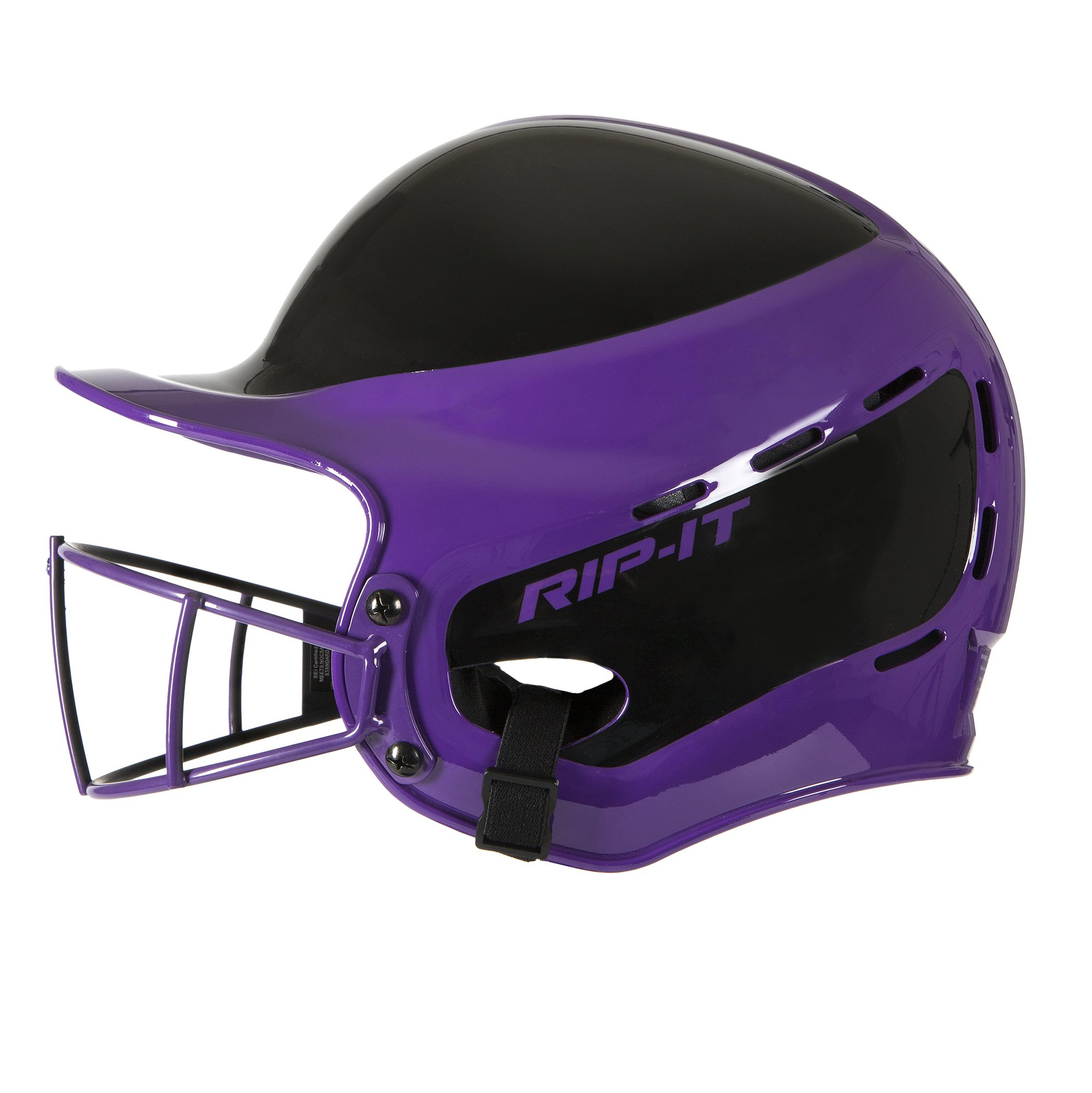Rip-It Vision Pro Away Softball Batting Helmet (Away Purple, Extra Large) by RIP-IT