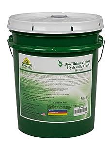 Renewable Lubricants 81014 Bio-Ultimax 1000 ISO 46 Hydraulic Lubricant, 5 Gallon Pail,yellow