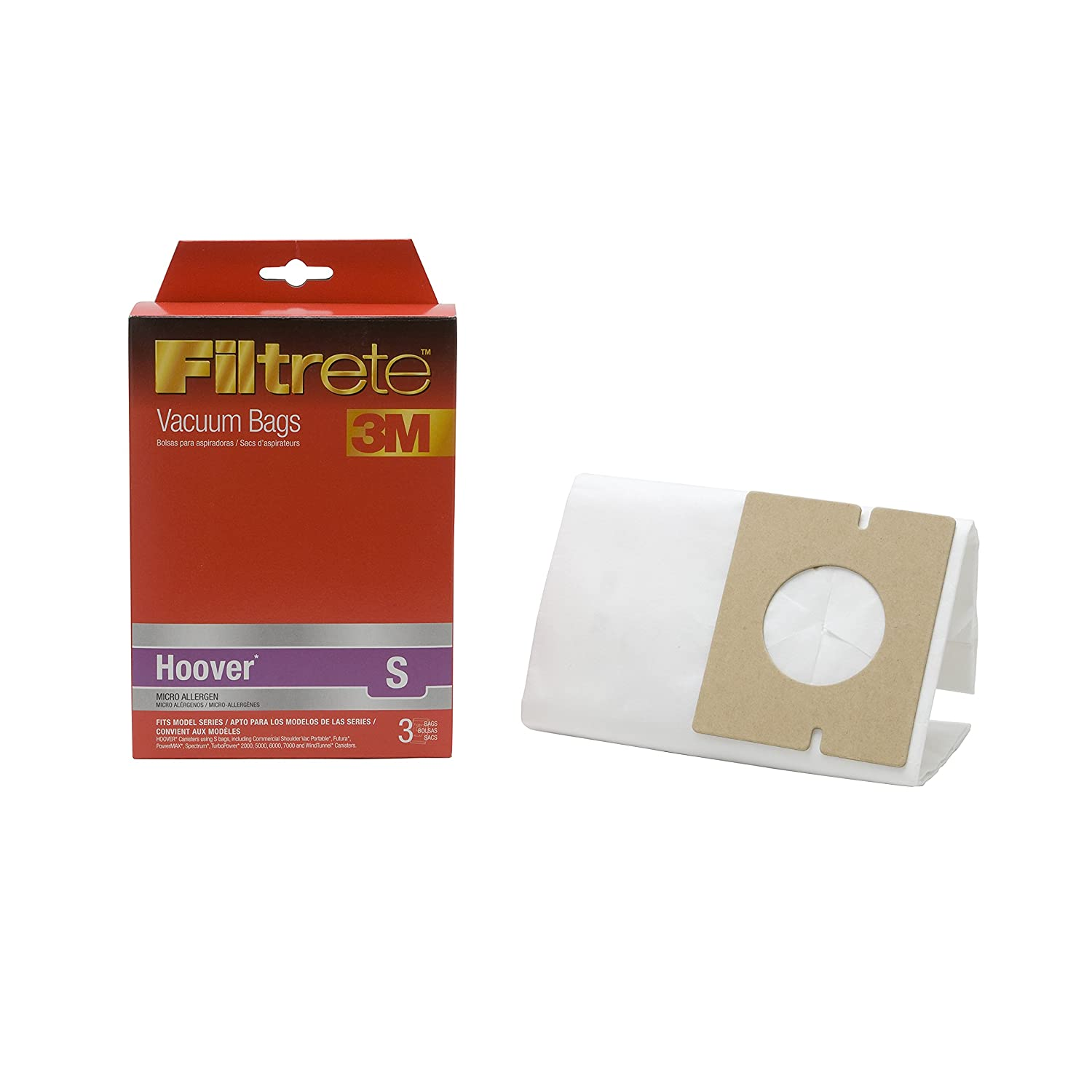 Amazon.com - 3M Filtrete Hoover S Micro Allergen Vacuum Bag - Household Vacuum Bags Upright