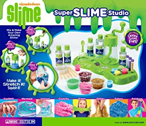Cra-Z-Art 18833 Nickelodeon Ultimate Slime Making Lab Tabletop Mixer (32 Piece), Green