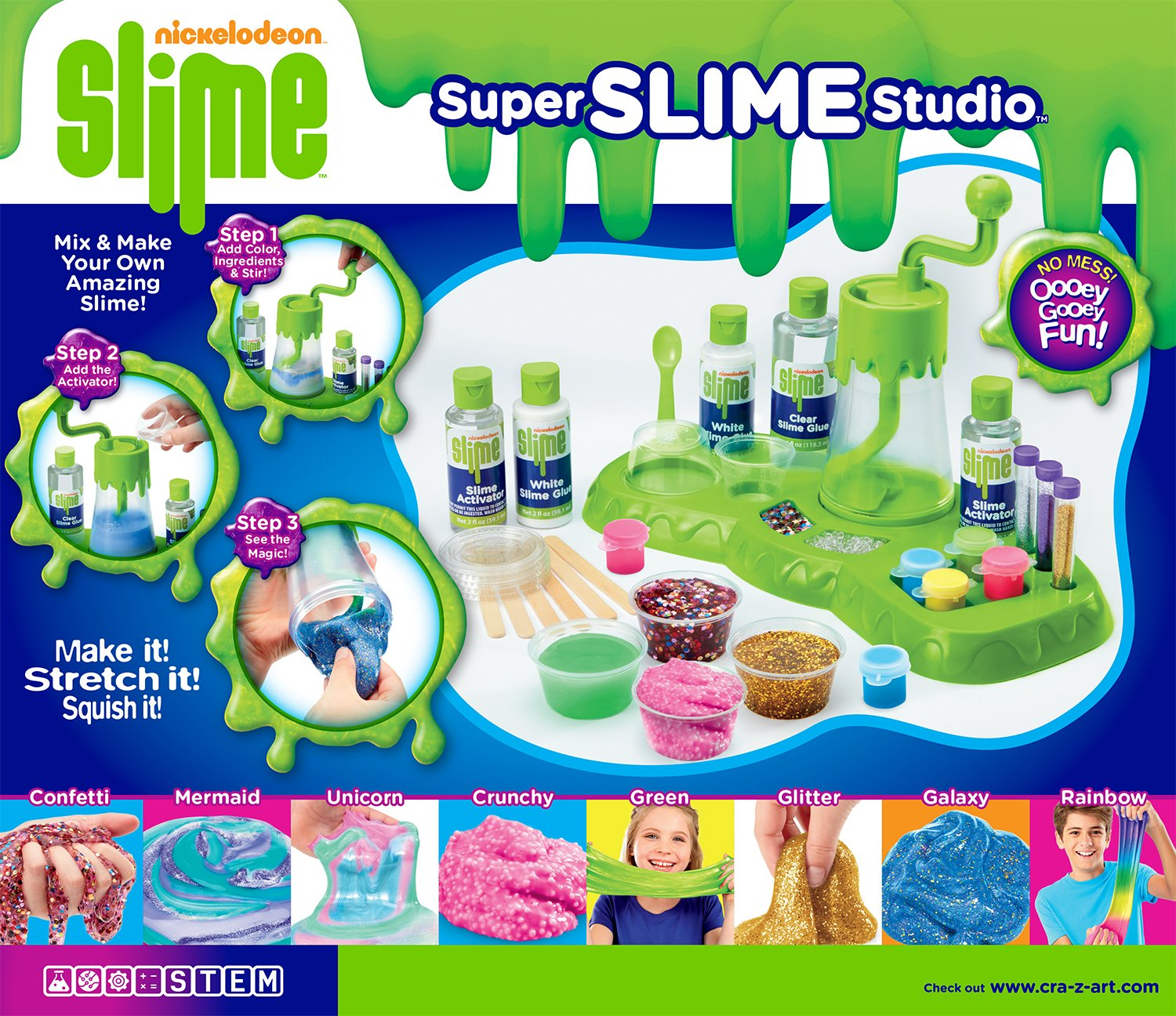 Cra-Z-Art 18833 Nickelodeon Ultimate Slime Making Lab Tabletop Mixer (32 Piece)