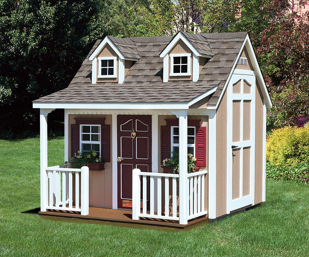 amazon com suncast w89l backyard cottage playhouse with porch and