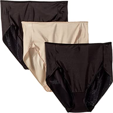 46f8b52da32a Miraclesuit Shapewear Women's TC Intimates by Microfiber Hi-Cut 3-Pack  Black/Black/Nude XX-Large at Amazon Women's Clothing store: