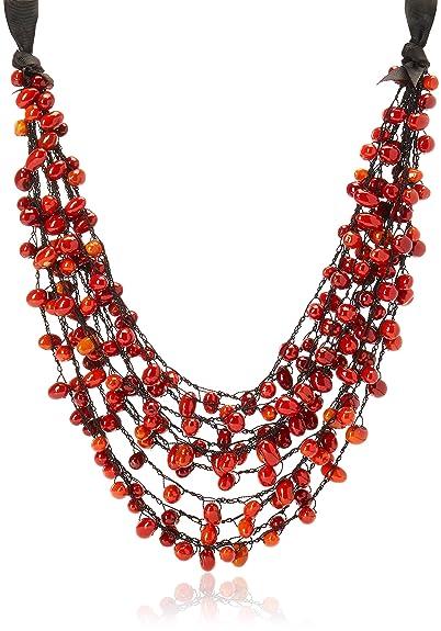 atractivo y duradero fecha de lanzamiento Código promocional Uttara Collar Semillas para Mujer, color Rojo: Amazon.com.mx ...