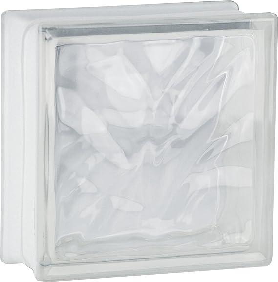5 piezas FUCHS bloques de vidrio nube neutro 19x19x8 cm: Amazon.es ...