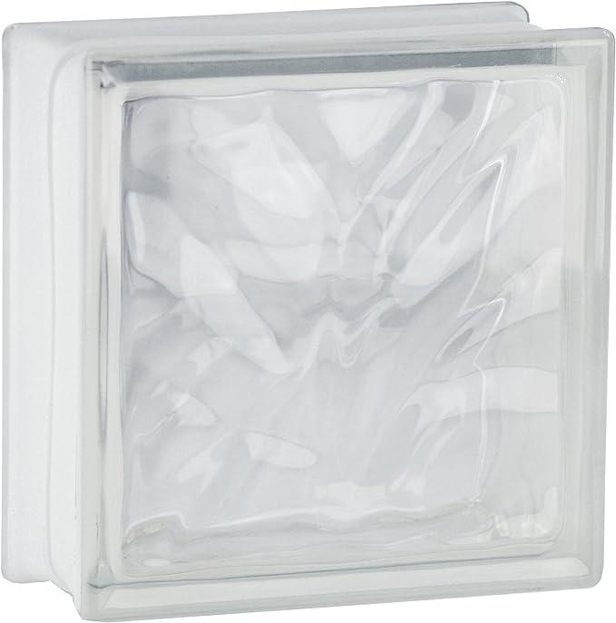 5 piezas FUCHS bloques de vidrio nube verde claro 19x19x8 cm