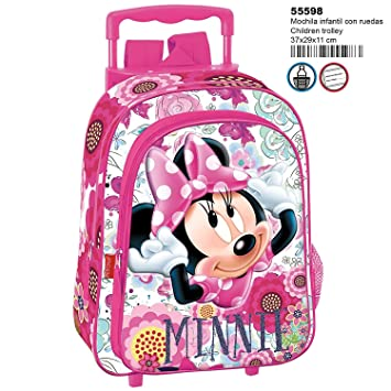 Minnie Mouse Amour Mochila Infantil con Carro Fijo Ruedas: Amazon.es: Equipaje