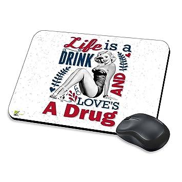 mm026 - vida es una bebida y un drogas gracioso regalo del amor alfombrilla de ratón/Mousepad antideslizante ordenador portátil PC alfombrilla de ratón: ...