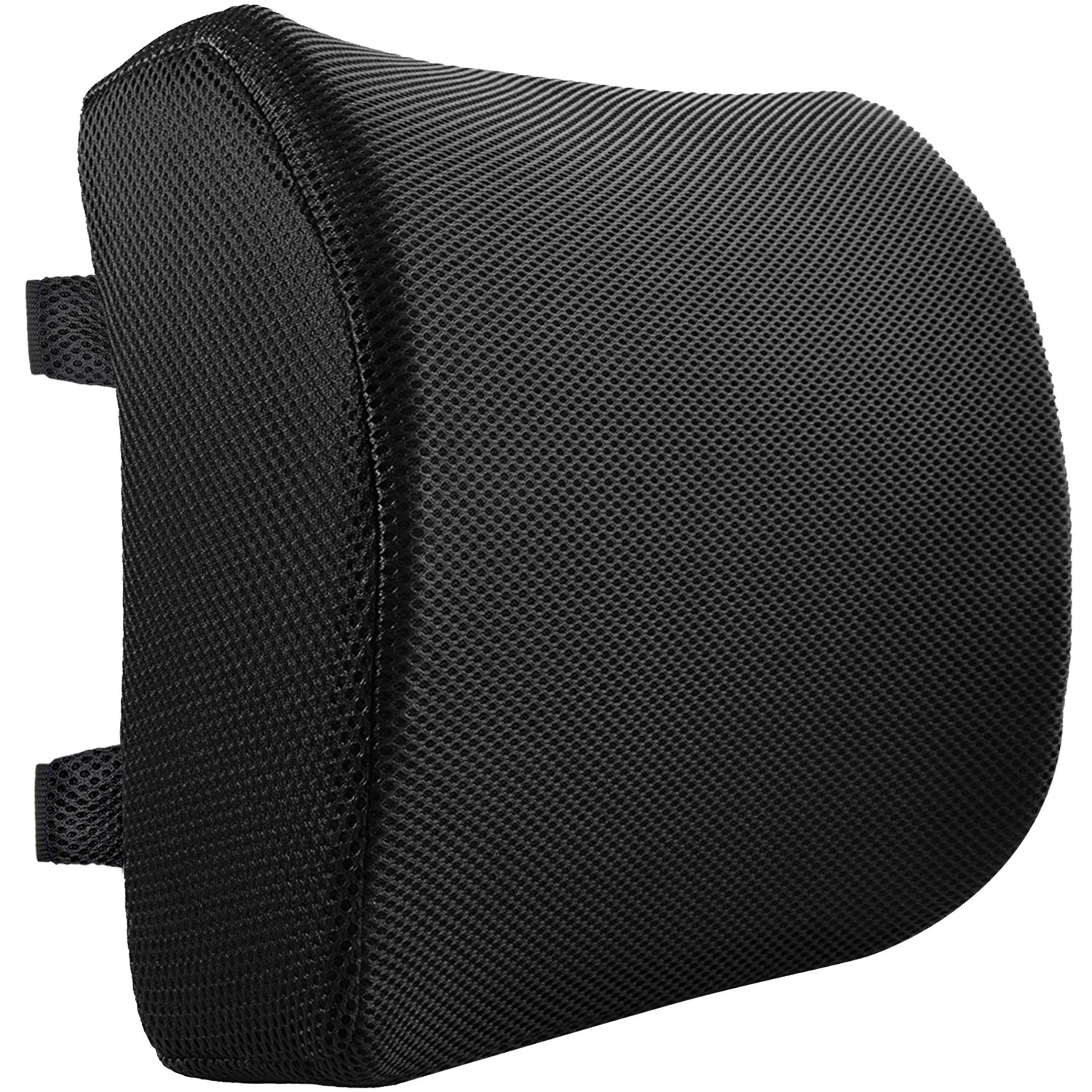 Tadge Goods Lumbar Support Lower Back Cushion Pillow - Great Straps Office Chair Car Sciatic Nerve Pain Relief   Thick, Comfortable 100% Memory Foam   Ergonomic, Orthopedic Design