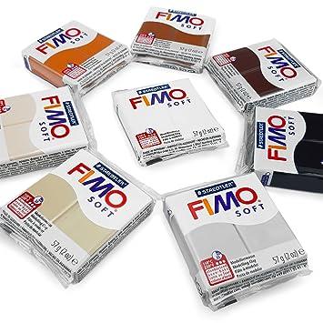 Fimo Weich 350g Polymer Modellierung von Ton Set 5 Schwarz Backofen Ton