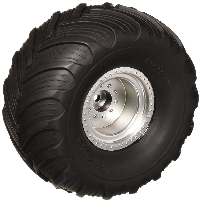 Traxxas 3665 Terra Groove neumáticos de Doble Perfil pre-glued en Cromo Satinado Ruedas (par): Amazon.es: Amazon.es