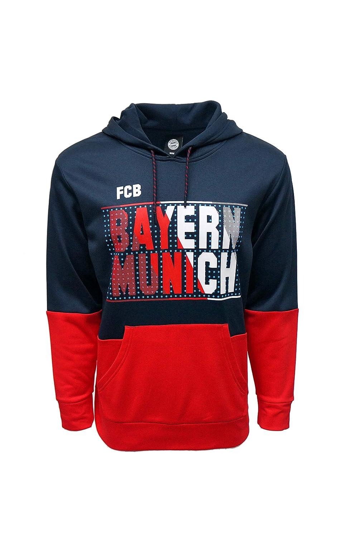 FC BAYERN MUNICH Official Merchandise by HKY Sportswear Men/'s 2-Tone Fleece Hoodie