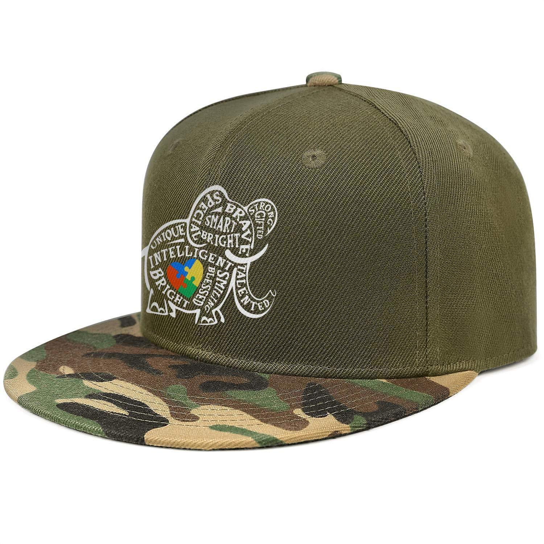 Autism Awareness Elephant Toddler Unisex Baseball Cap Polyester Running Hats Adjustable Trucker Caps Dad-Hat