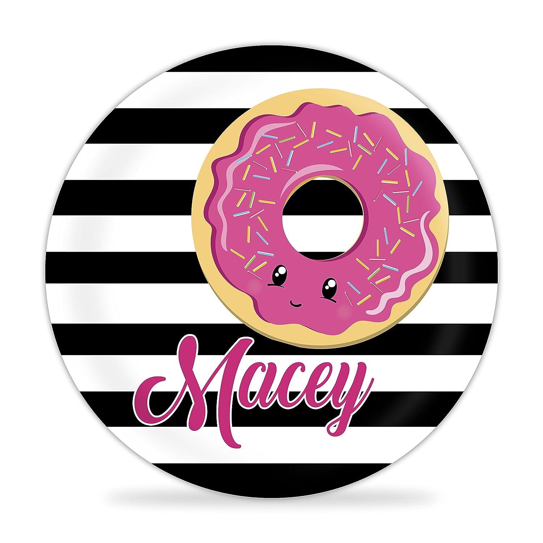 Purple Sprinkle Doughnut Melamine Personalized Name Plate Donut Plate