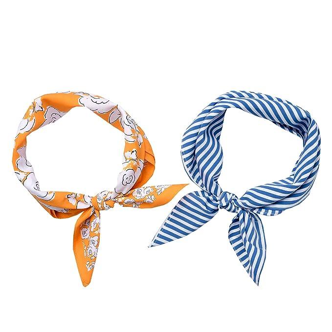 "9d9654758849c Mara Maxwell Women's Bandana Neckerchief Neck Scarves for Head, Hair, Neck  ""Macy"""