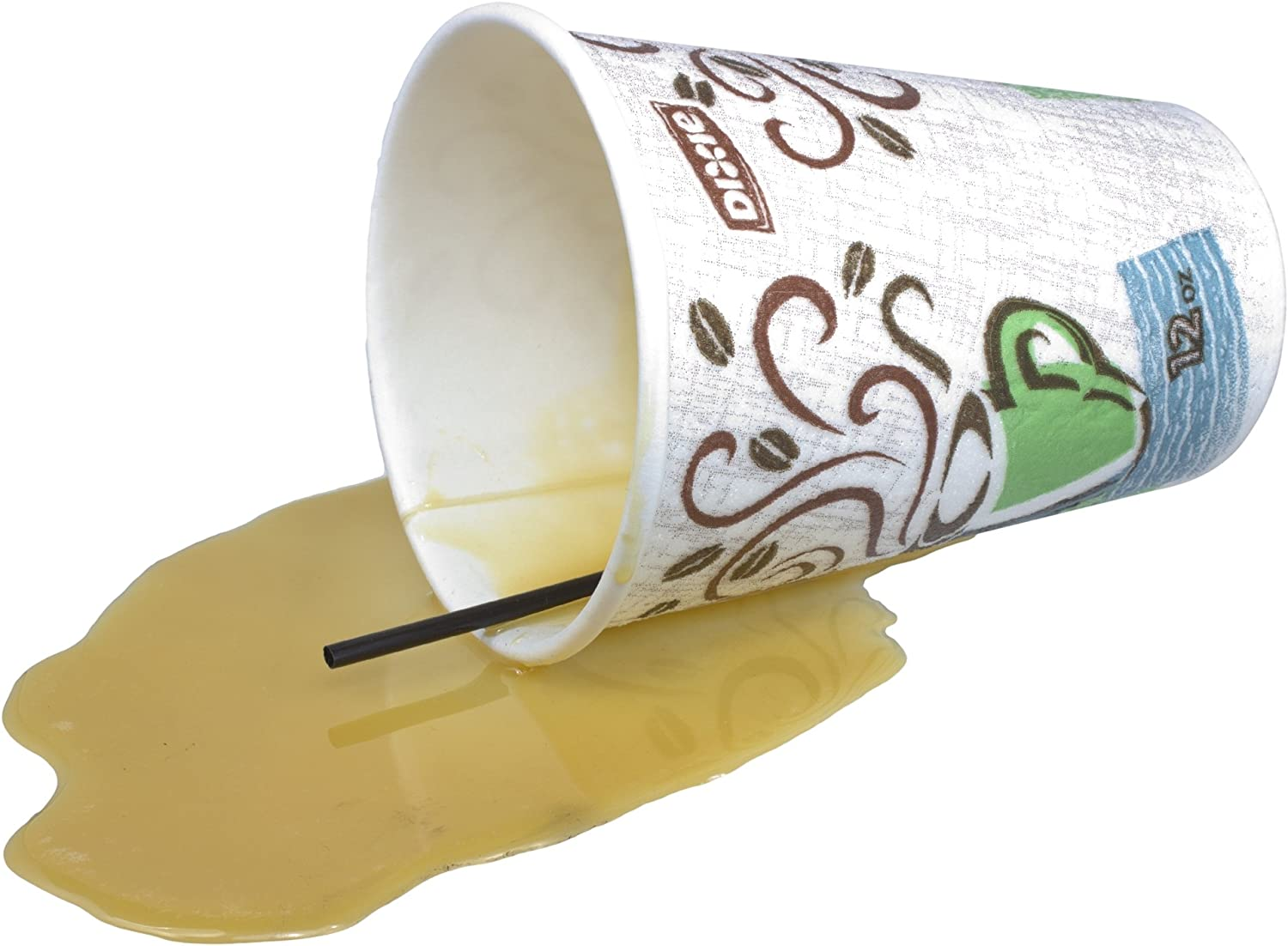 Just Dough It 7.5'' Spilled Disposable Cup of Coffee Replica Prop