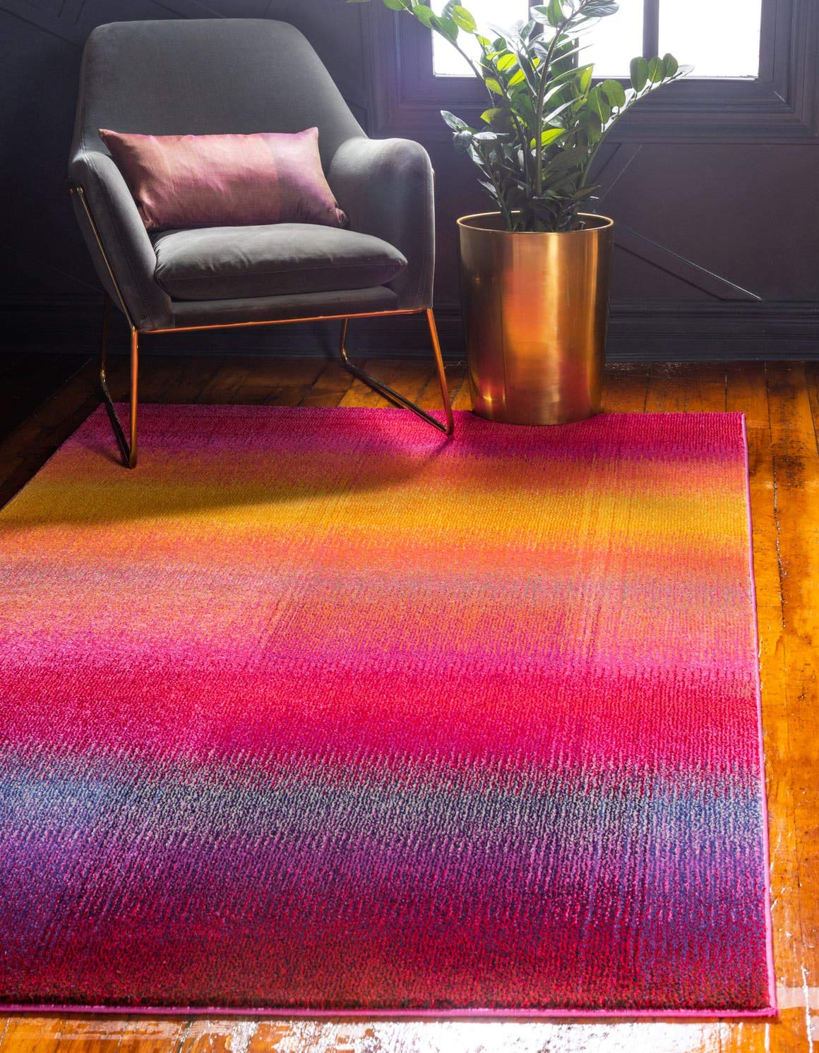 Unique Loom Estrella Collection Colorful Abstract Multi Area Rug 5 0 x 8 0