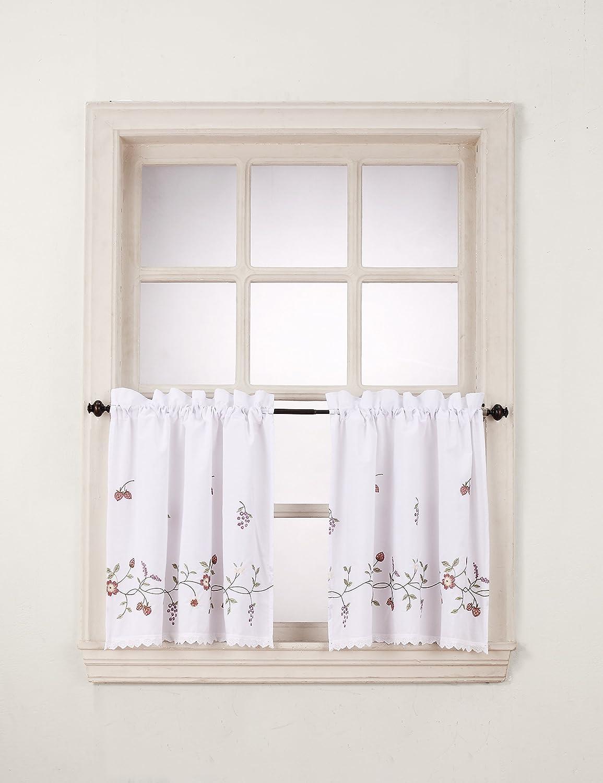 No. 918 Charlene Kitchen Curtain Valance, 56 by 14 inch, White S. Lichtenberg CHARLENE5614WHT