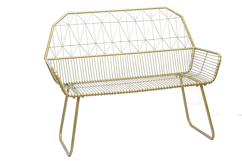 BW Decor Gold Color Handmade Metal Indoor, Patio, Balcony and Veranda Bench Chair China