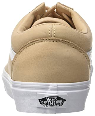 1cc17943593 Vans Men s Old Skool Lace-Up Low-top Sneakers Beige (Premium Leather  Toasted Almond True White) 12 U  Buy Online at Low Prices in India -  Amazon.in