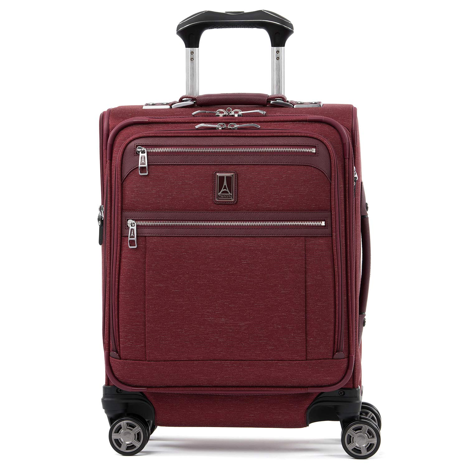 Travelpro Luggage Platinum Elite 20'' Carry-on Intl Expandable Spinner w/USB Port, Bordeaux