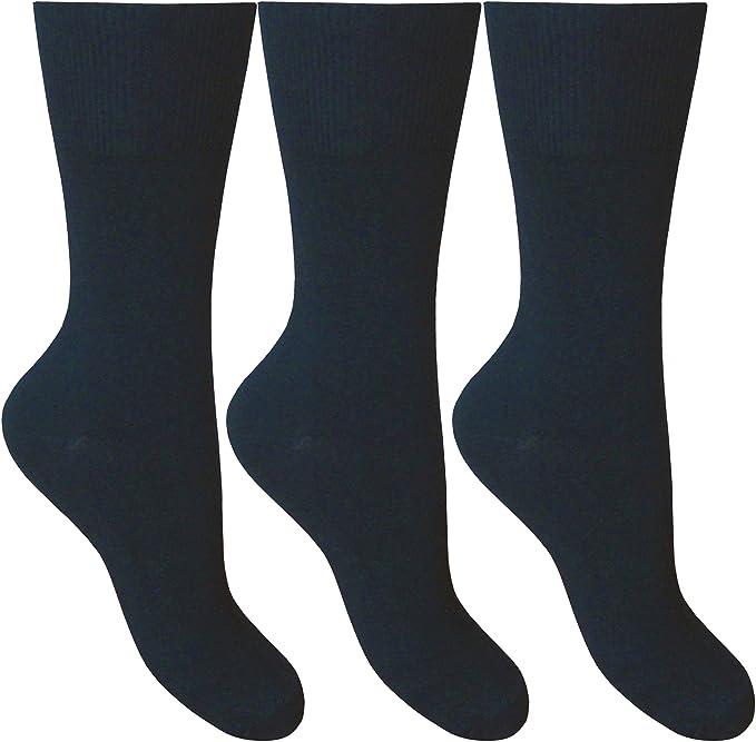 Mens Big Foot Cotton Lycra Socks 6 Pair Pack Size UK 11-14 .