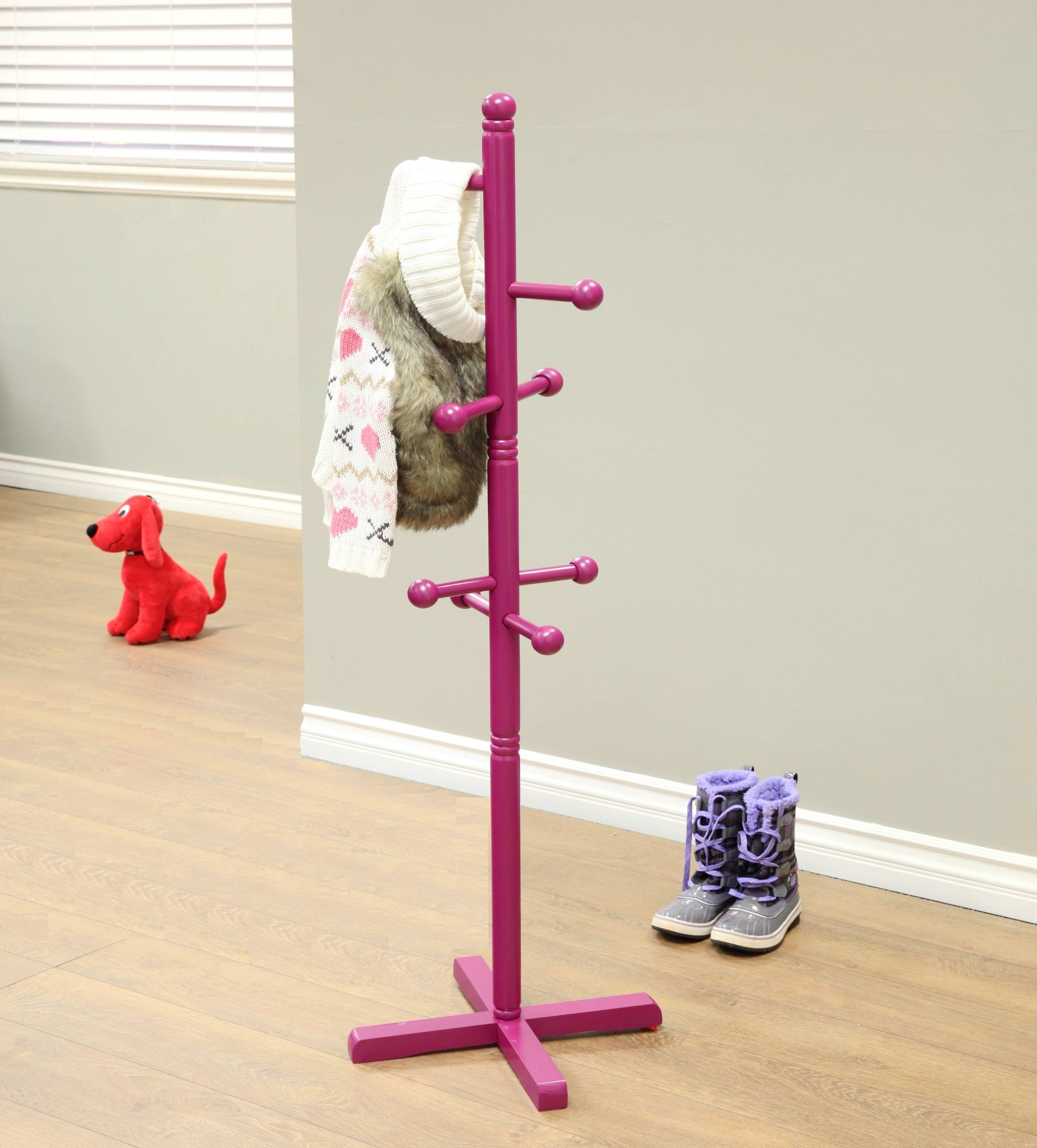 Frenchi Home Furnishing Kid's Coat Rack in Purple