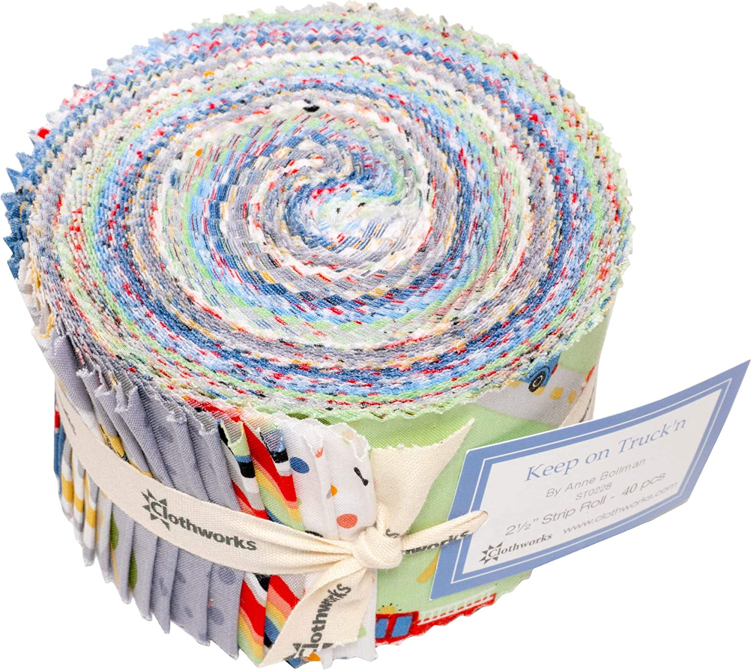 Assorted Eleanor Burns Homestead Country Pinwheel 40 2.5-inch Strips Jelly Roll Benartex