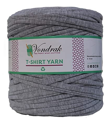 T-Shirt Yarn Recycled 130 Yards 1 5 lb Bulky Yarn│Jersey Yarn│Fabric Yarn  │T Shirt Yarn for Crochet │ Knitting Tshirt Yarn │ Home Decor DYI