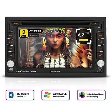 2DIN Auto Radio Creatone V de 336dg con GPS Navegación (Europa), Bluetooth,