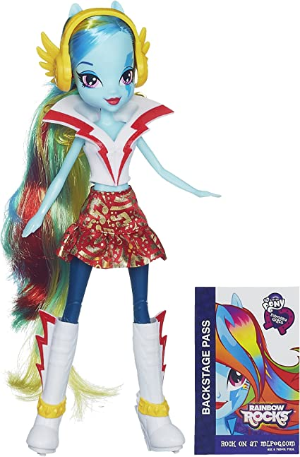 Amazon.com: My Little Pony Equestria Girls Rainbow Dash Doll - Rainbow  Rocks: Toys & Games