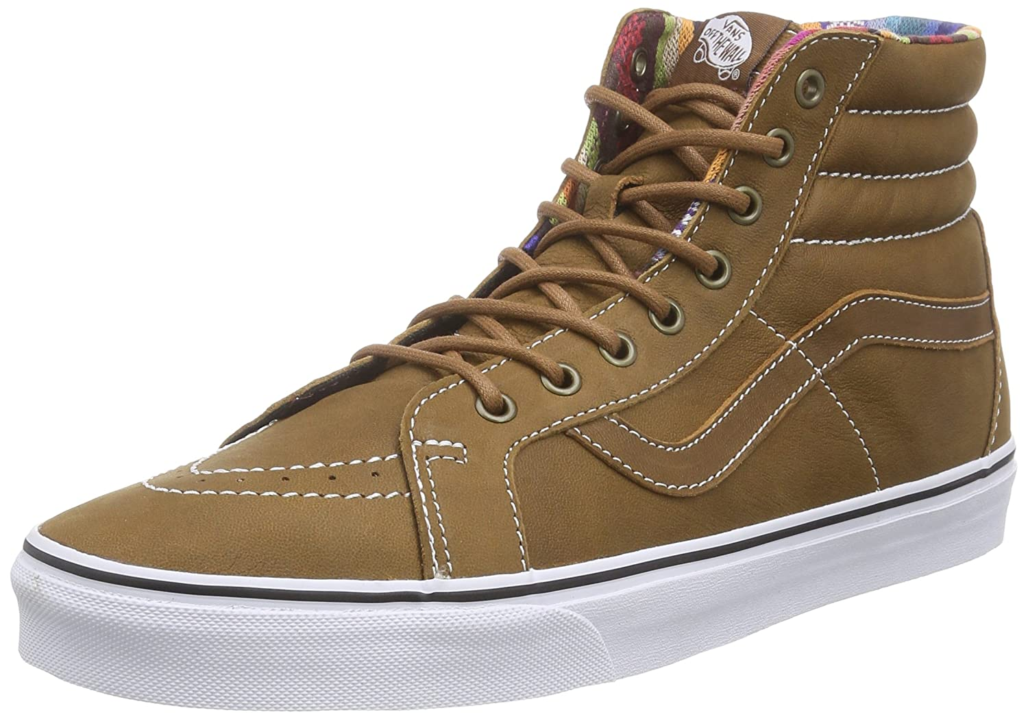 VANS MENS SK8 HI REISSUE LEATHER SHOES B00WVUCK78 9.5 B(M) US Women / 8 D(M) US Men|Brown/Guate