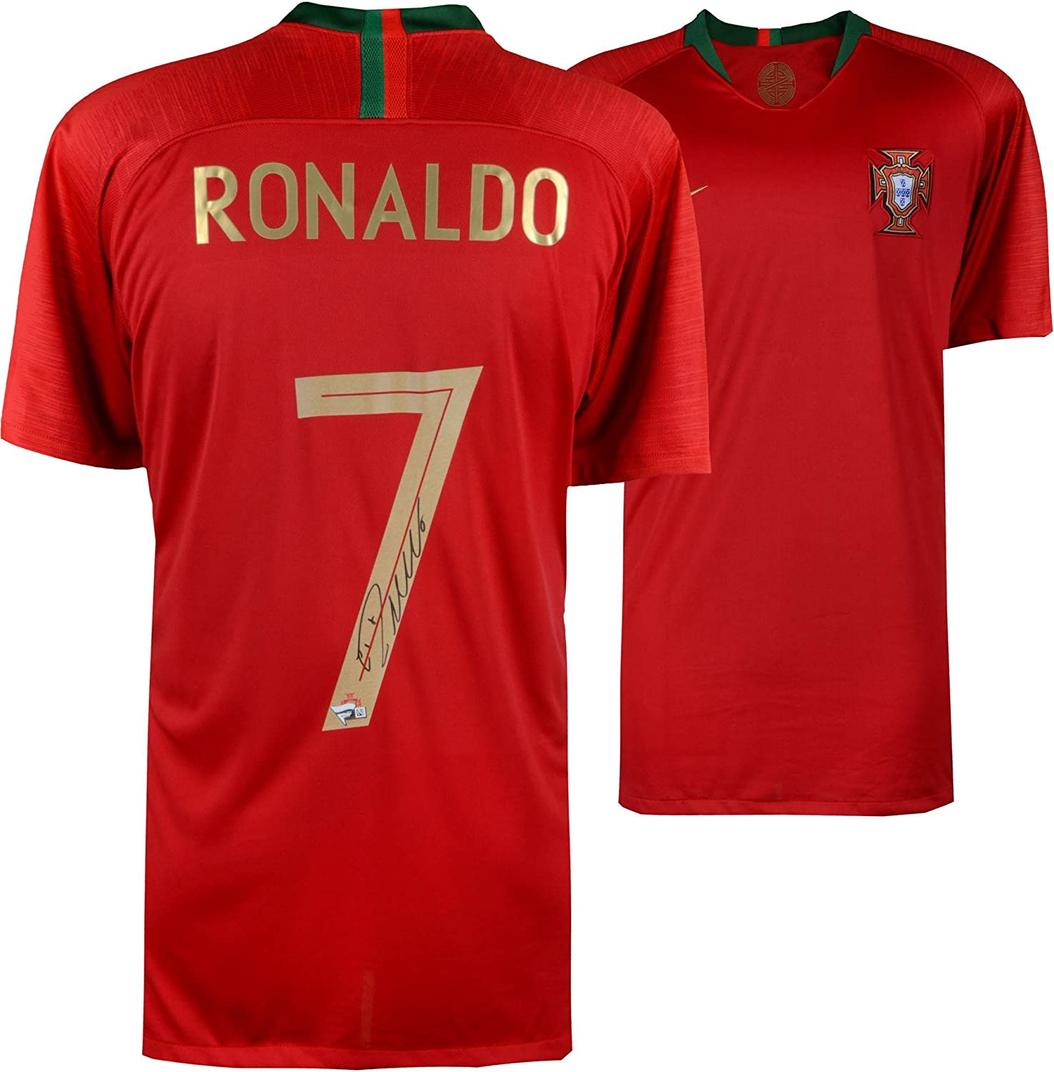 newest ae8ee 8c986 Cristiano Ronaldo Portugal Autographed 2018 Jersey ...