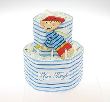 Windeltorte Zur Taufe Blau Mit Schutzengel Geschenk Zur