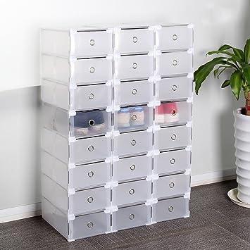 Schuh Aufbewahrung multiware 24 x schuhaufbewahrung schuhbox schuhkasten stapelbox