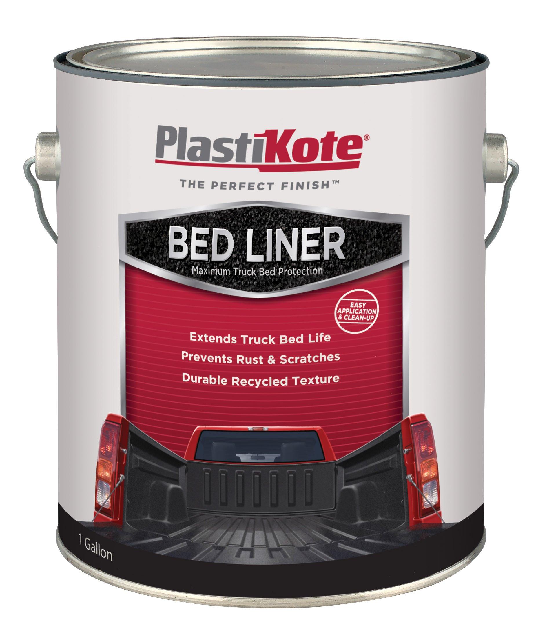 PlastiKote (265G-2PK) Black Truck Bed Liner - 1 Gallon, (Pack of 2) by PlastiKote