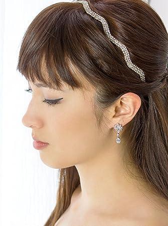 Amazon.com   Wave Silver Rhinestone Wedding Headband 24b5a3d24f6
