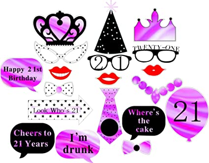 DECORA Birthday Party Photo Booth Props Kit