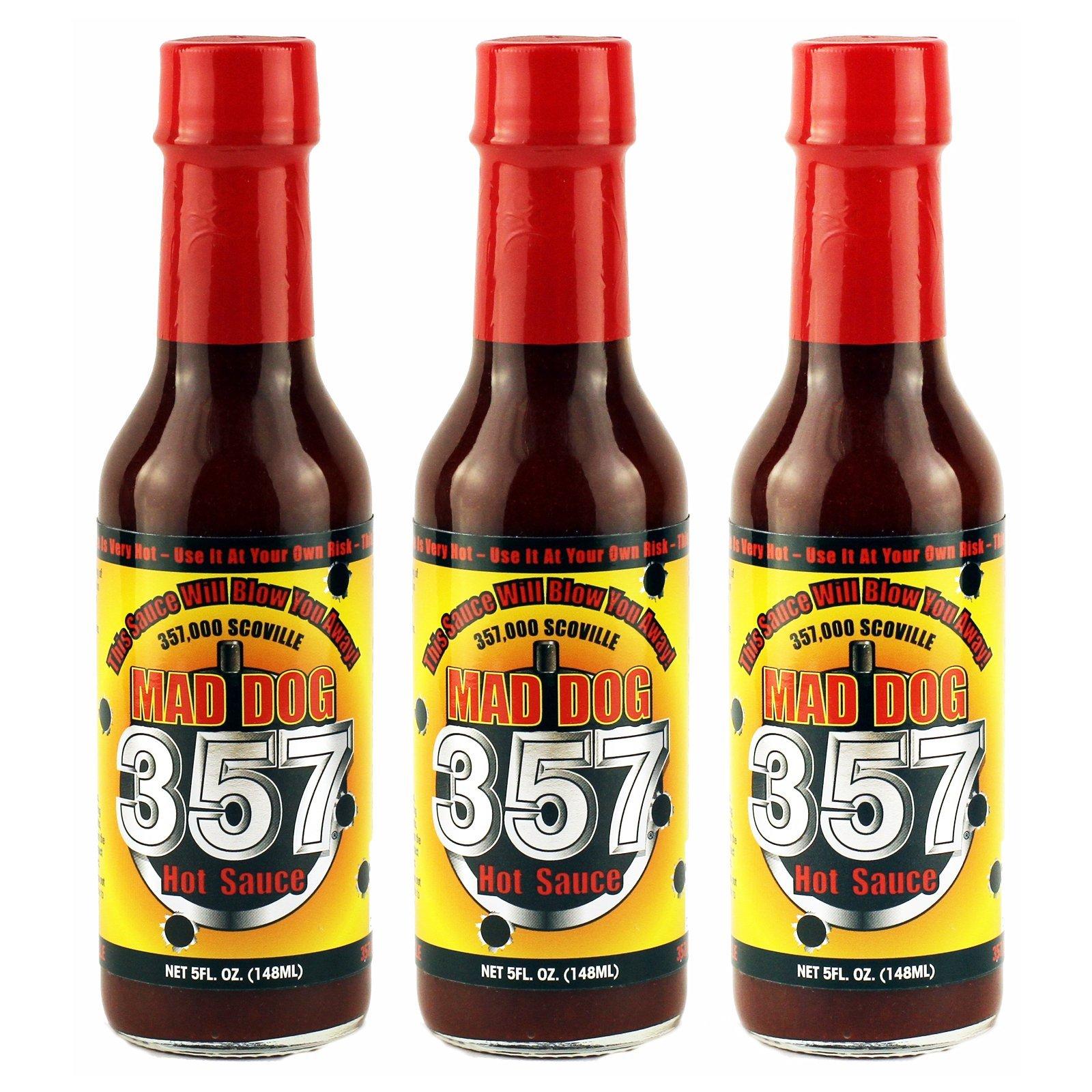 Mad Dog 357 Hot Sauce 5oz, 3 pack