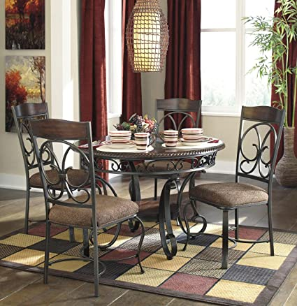 Signature Design by Ashley Glambrey Casual Dining Room Set with Dining  Table and 4 x Dining Chair