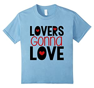 Kids Valentines Day Shirt Funny Lovers Gonna Love Hearts 10 Baby Blue
