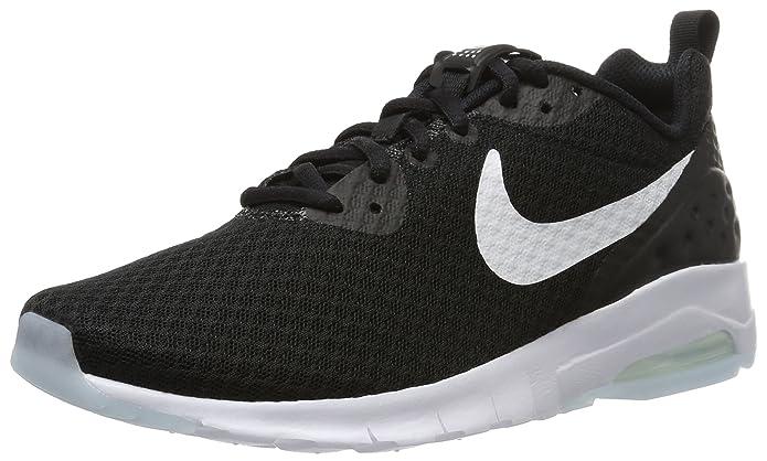 Nike Air Max Motion Sneakers Herren Schwarz mit weißen Streifen