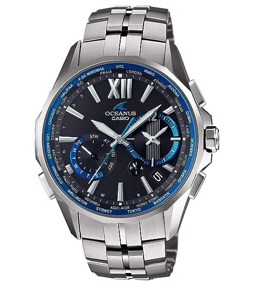big sale 4b5fd 87b76 [カシオ] 腕時計 オシアナス Manta 電波ソーラー OCW-S3400-1AJF シルバー