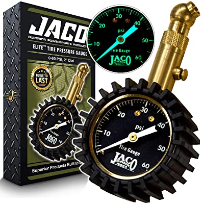JACO Elite Tire Pressure Gauge - 60 PSI: Automotive